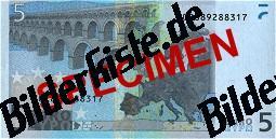 Geldschein 5 Euro Rückseite