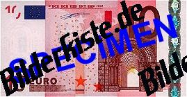 Geldschein 10 Euro Vorderseite
