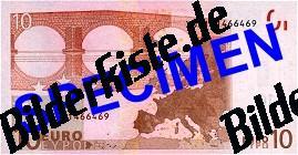 Geldschein 10 Euro Rückseite