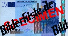 Geldschein 20 Euro Vorderseite