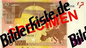 Geldschein 50 Euro Rückseite