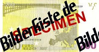 Banconota da 200 euro, parte posteriore