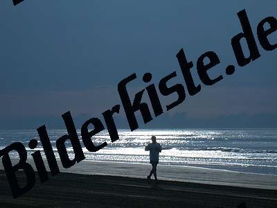 Jogger am Strand