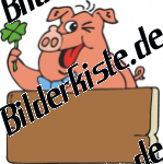 Glücksschwein mit Schleife