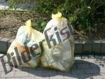 2 gelbe Müllsäcke