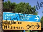 Schild Fahrradverleih