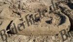 Indianerdorf aus Sand