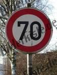 Geschwindigkeits- beschränkung 70