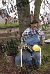Vogelscheuche Bauarbeiter